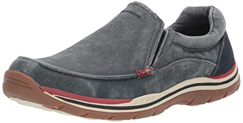 (Skechers USA Men's Expected Avillo Relaxed-Fit Slip-On Loafer,Navy,10.5 M US)