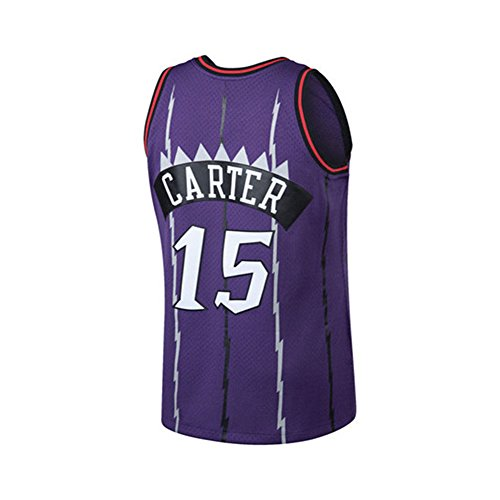 Carter Basketball Vince (Youth Carter Jersey 15 Toronto Vince Kids/Boys Basketball Swingman Jerseys Size S(6-8Years Old) (Purple))