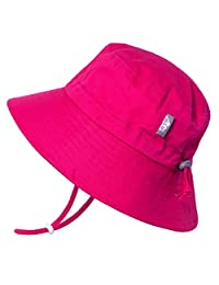 Jan & Jul Girls Breathable Cotton UV Protection Sun-Hat, Adjustable Chin-Strap, Baby and Kids