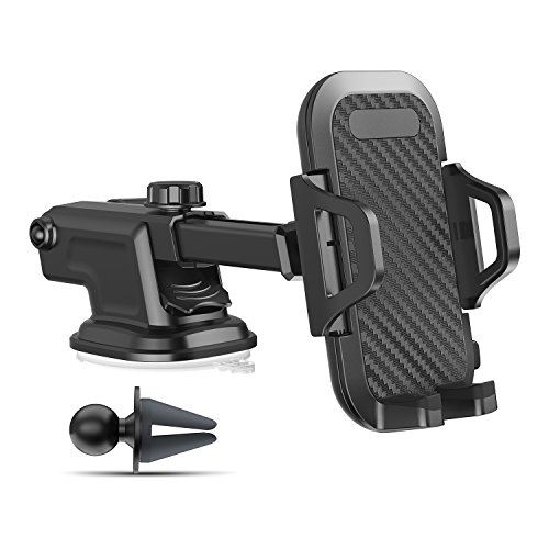 Price comparison product image VICSEED 3 in 1 Phone Holder for Car Windshield, Universal Car Dashboard Phone Mount, Air Vent Car Mounts, Compatible iPhone X 8 7 6s 6 Plus, Samsung Galaxy S9 Plus S8 S7 S6 Note 8, LG etc.