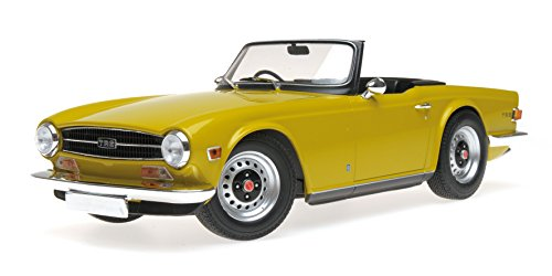 1973 Triumph TR6 Convertible LHD (Left Hand Drive) Yellow Limited Edition to 402 Pieces Worldwide 1/18 Diecast Model Car by Minichamps 155132034