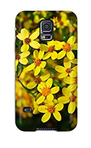 New Style 7886150K45813021 Fashion Protective Wild Yellow Flowers Case Cover For Galaxy S5
