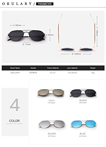 Black para para Hombre New Gafas UV400 Mirror Blue Sol Color Driving Lady Hombres de polarizadas Sunglasses nxCRBqT