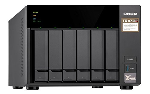 QNAP TS-673-8G, 6bay, 8GB RAM, NAS (Network-attached Storage) Enclosure  quipped with Quad-core CPU and PCIe slots x2