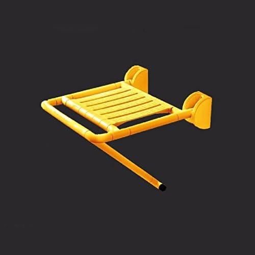 浴室用手すり 安全折りたたみベンチシャワーベンチ入浴椅子折り畳み壁いす抗菌交換シューズ,黄色,A