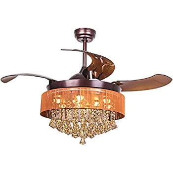 Parrot Uncle Ceiling Fans With Lights 46 Quot Modern Brown