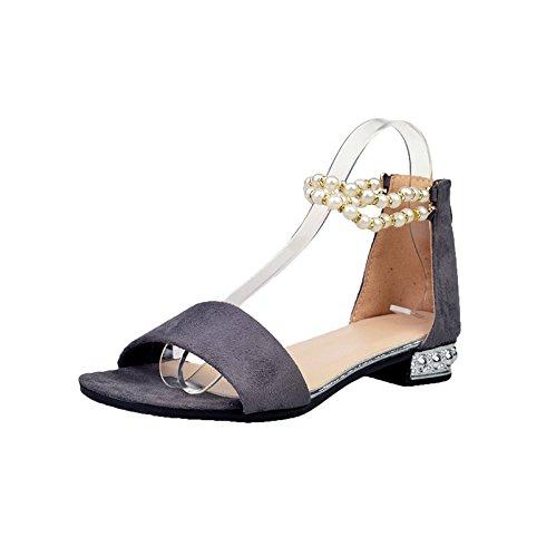 XZGC Mujer Zapatos de tacón gris