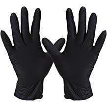 FWPP Disposable Nitrile Surgical Gloves Ambidextrous Textured Powder Free Latex Free, Hypoallergenic Pack of 100