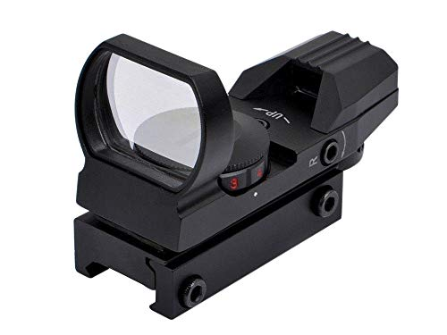 Feyachi Reflex Sight - Adjustable Reticle (4 Styles) Both Red and Green in one Sight! (Best Red Dot Sight Airsoft)
