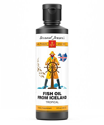 - Bernard Jensen Tropical Flavor Liquid Fish Oil 8 oz | Good Source of Omega-3
