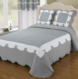 amazon couvre lit Couvre lit boutis 2 places Naive gris: Amazon.fr: Cuisine & Maison amazon couvre lit