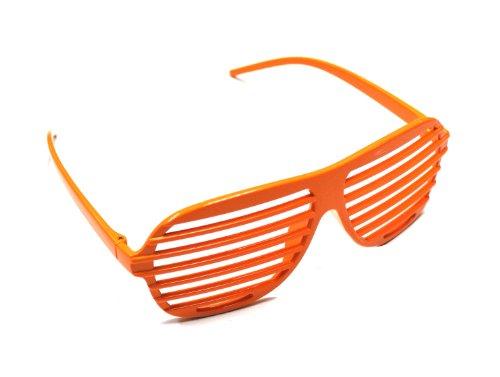Generic Venetian Blinds Louver Shutter Shape Eye Glasses Sunglass Spectacles(Pair: Orange) by Shutter - Blind Sunglasses Venetian