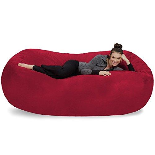 Sofa Sack-Bean BagsGiant Bean Bag Lounger, 7.5', Cinnabar