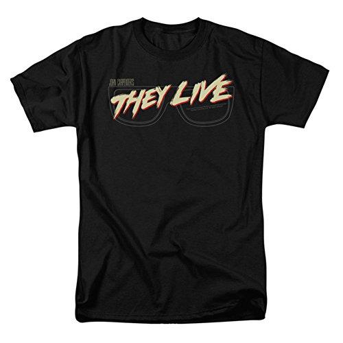Ptshirt.com-19429-They Live Men\'s Glasses Logo T-shirt Black-B00W2QWTMW-T Shirt Design