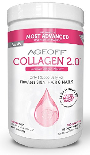 Collagen 2.0 | Bioactive Collagen Peptides + C3 | 4 Clinical Studies | Proven 20.1% Wrinkle Reduction | 60-Day Supply