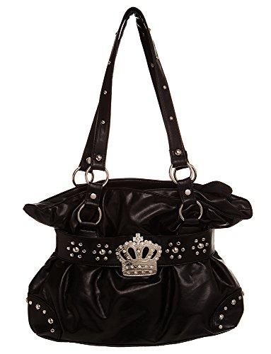 (Medium Crown Inspired Studded Hobo women handbag Shoulder Handbag by Handbags For All)