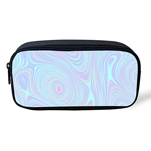 CUYcolorfulpencilbagPOI Holographic Circle Blueprint Pencil Bag Canvas Durable Colored Pen Bag Kids School Stationery Pencil Case Women Casual Cosmetic Bags]()