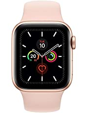 Apple Watch Series 5-40mm Gold Aluminium Case with Pink Sand Sport Band, GPS, watchOS 6, MWV72AE/A