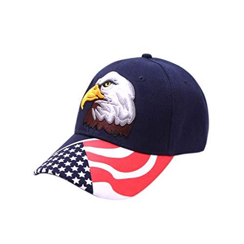 (Dressin ,Women American Flag Baseball Cap Rhinestone Jeans Denim Baseball Adjustable Hat Djustable Bling Hat Cap)