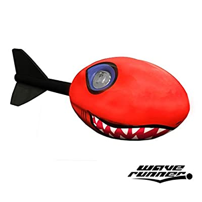 Wave Runner Whistle Footballs Sports Vortex Aero Howler Toy Pro Foam Football With Tail Throw like Arrow See Fly like Missile Set of 2 Styles Whistling Dart Footballs For Kids (Howler Shark Red): Toys & Games