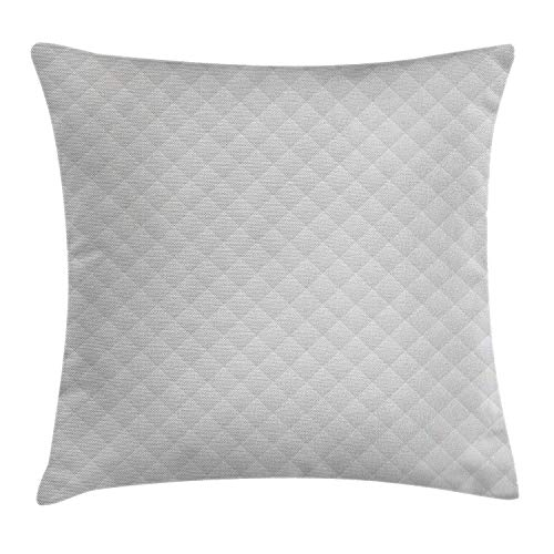 - Grey Decor Throw Pillow Cushion Cover by, Linked Little Triangles Grid Contoured Brick-Like Hexagon Bound Models Aspect Artwork, Decorative Square Accent Pillow Case, 18 X 18 Inches, Dove