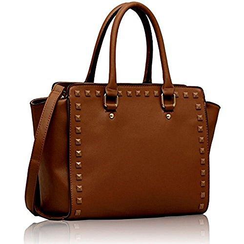UK Material para Fashion de mujer marrón Sintético Bolso Only marrón asas de 48qg85