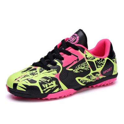 Xing Lin Botas De Fútbol Zapatos De Fútbol Estudiantil Clavos Rotos Los Niños Y Las Niñas Escolares Piso Antideslizante Zapatillas Deportivas Para Adultos 163-1 pink ()