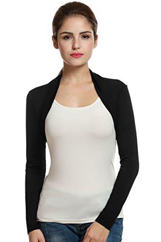 GEESENSS Women's Long Sleeve Bolero Shrug Crop Top