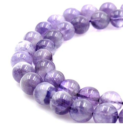 Natural Amethyst Gemstone 8mm Round Loose Beads 15.5