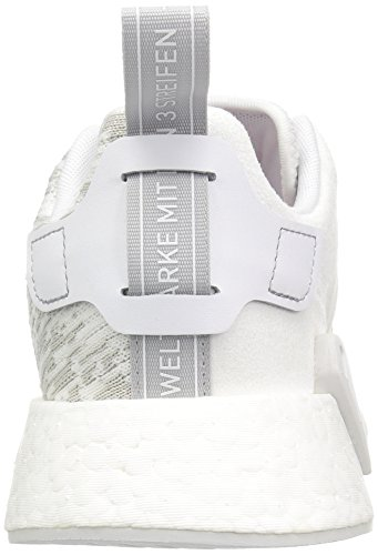 Adidas Original Kvinna Nmd_r2 W Gymnastiksko Vit / Vit / Grå Två