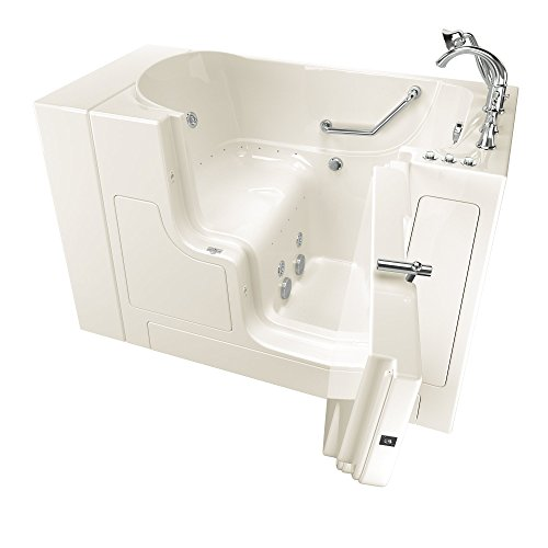 "American Standard 30""x52"" Right Hand Outward Opening Door Value Series Walk in Combo Whirlpool and  Air Spa in Linen"