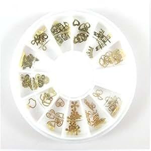 sourban pegatinas de uñas decoración de uñas Metal fácilmente recoger herramientas