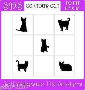 """Smarts-Art–Adhesivos decorativos 6""""baldosas 10X gatos o pollos o caballos o hibisco–Rico Choc marrón–Hibiscus"""