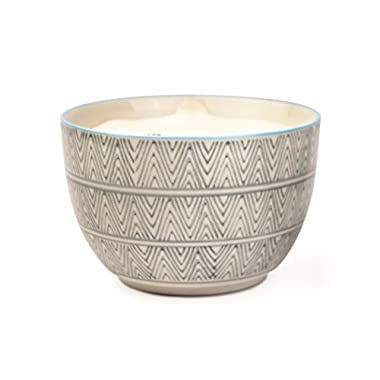Paddywax Boheme Collection Soy Wax Candle In Hand Painted Ceramic Bowl, Sea Salt & Sage