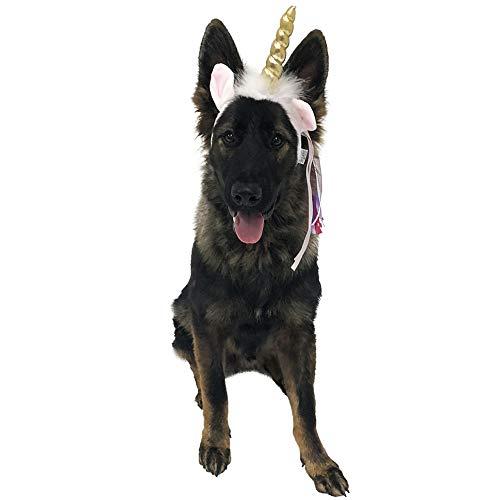 Midlee Dog Unicorn Headband Halloween Costume ()
