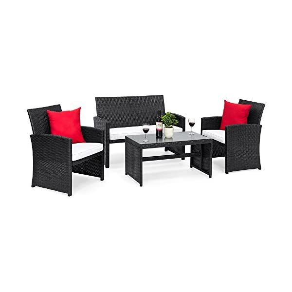 Best Choice Products 4-Piece Wicker Patio Conversation Furniture Set with 4 Seats...