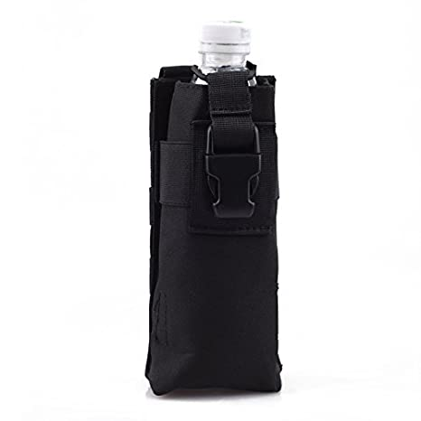 71c3212ad5 CISNO Adjustable Military Tactical Water Bottle Bag Molle Utility Dump and  Open Top Bottle Pouch Travel