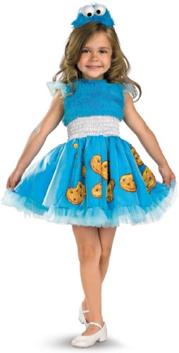 Frilly Cookie Monster Costume - Toddler (Cookie Monster Halloween Costume For Girls)