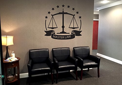 Lawyer Wall Decal Lawyer Emblem Law Office Juridical Service Center Stickers Mural Unique Gift 917RE -