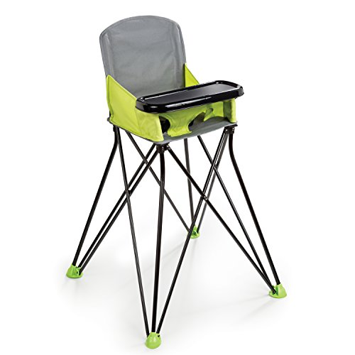 Summer Infant Pop and Sit Portable Highchair, Green Compact High Chair