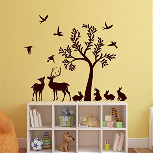 Wall Art Decal Sticker Words Wall Saying Words Removable Mural French Quote L'Arbre Et SES Animaux The Tree and Its Animals
