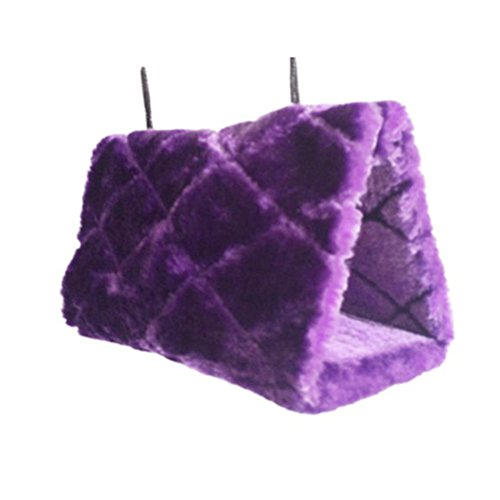 Pixnor Bird Animal Plush Snuggle Hammock Hanging Snuggle Cave Happy Hut Hideaway - Size M (Purple) by PIXNOR