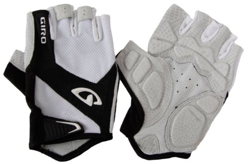 Giro Monaco Road Gloves, White/Black, Small