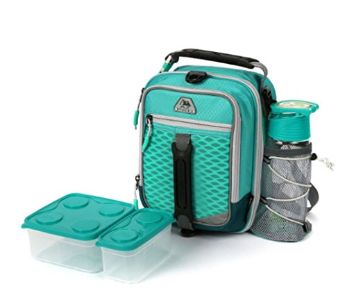 Work Dual Zone Compartment (Arctic Zone High-Performance Dual-Compartment Lunch Box In Teal Includes Ice Pack, Food Container And Water Bottle)
