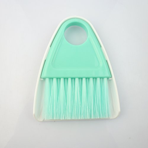 Easyinsmile Mini Cleaning Broom and Dustpan Set Mini Desk Cleaning Brush and Duster Computer Keyboard Desktop Car Table Broom - Random Color (B)