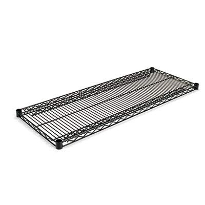 Alera SW584818BL  Industrial Extra Wire Shelves, 48w x 18d, Black (Case of 2) Alera Wire Shelving Solutions