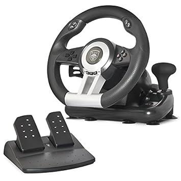 Spirit Of Gamer SOG-RWP - Volante de Juego para Ordenador portátil/PS2/PS3, Color Negro: Spirit: Amazon.es: Informática
