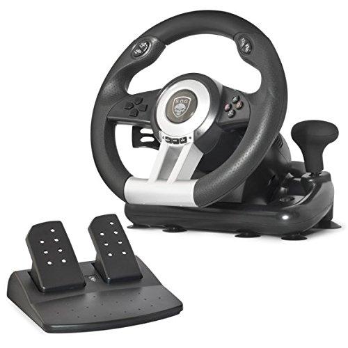 🥇 Spirit Of Gamer SOG-RWP – Volante de Juego para Ordenador portátil/PS2/PS3