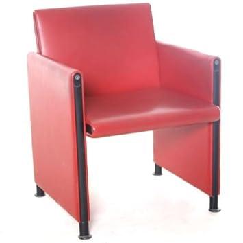 Sessel Besprechungsstuhl Meritalia Echtleder Rot Gebrauchte