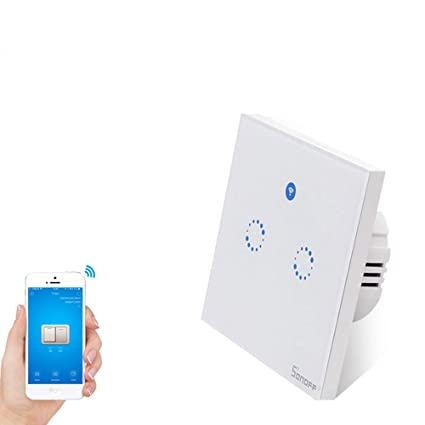 Sonoff T1 EU 2C Smart WiFi RF APP Touch Control Wall Light Switch 1 2 Gang  86 Type Panel Smart Home